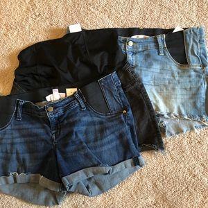 Maternity Jean Shorts Bundle